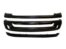 02-05 DODGE PICKUP RAM FRONT BUMPER BLK CAP VALANCE 3PC