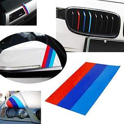 """iJDMTOY (1 10"""" M-Colored Stripe Decal Sticker For BMW Exteri"""