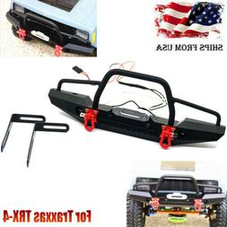 1/10 Metal Front Bumper Bull Bar w/ Winch Mount LED for Trax
