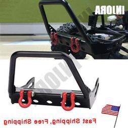 1:10 Metal Front Bumper w/ Winch Mount Shackles for 1/10 RC