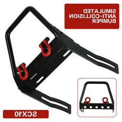 1/10 RC Car Metal Front Bumper with Winch Mount Shackles for