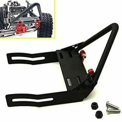 1/10 Scale RC Car Metal Front Bumper with Winch Mount Shackl