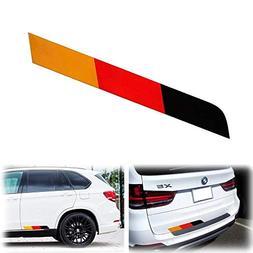 """iJDMTOY (1 17""""x2"""" Reflective Germany Flag Stripe Decal Stick"""