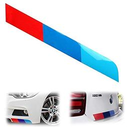 "iJDMTOY (1 17""x2"" Reflective M-Colored Stripe Decal Sticker"