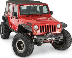 WARN 101410 Elite Series Stubby Front Bumper for Jeep JK Wra