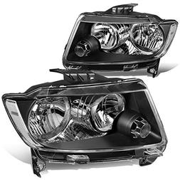 For 11-13 Jeep Grand Cherokee WK2 Pair Black Housing Clear C