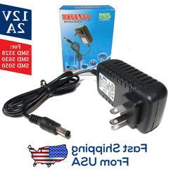 12V 2A LED Light Strip Power Supply 🔌🔆, 24W AC Adapter