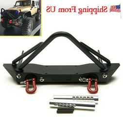 Steel Front Bumper w/ Winch Mount Shackles for 1/10 RC Axial