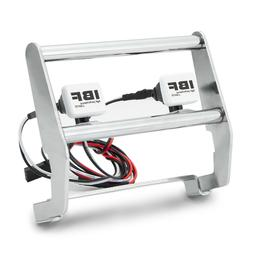 1x Metal Front Bumper with 2 LED Light 1/10 RC Crawler Acces