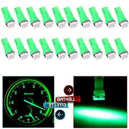 cciyu 20 Pack T5 0.5W Green Led T5 5050 Tri-Cell SMD LED Chi