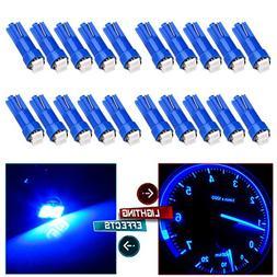 cciyu 20x T5 Ultra Blue 58 70 73 74 Dashboard Gauge 2SMD LED
