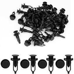 uxcell 50 Pcs 9mm Hole Retainer Clips Plastic Drive Rivets M