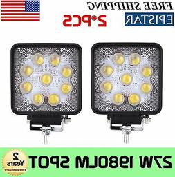 5D+ 2X 4Inch 27W Square Spot Beam Led Work Light Driving Fog