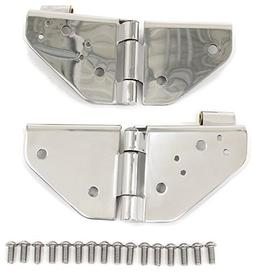 Smittybilt 7403 Windshield Hinge Kit, 76-95 CJ/YJ Stainless