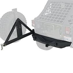 Smittybilt 76856 XRC Black Textured Rear Bumper with Hitch a
