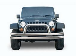 RAMPAGE PRODUCTS 86620 Black Double Tube Front Bumper with H