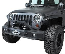 RAMPAGE PRODUCTS 99510 Black TrailGuard Front Bumper for Jee