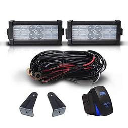 "DOT 7"" Inch 36W Led Light Bar Combo Bumper Reverse Front Gri"