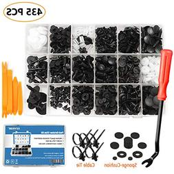 EZYKOO 435 Pcs Car Retainer Clips & Plastic Fasteners Kit -
