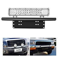 Nilight Led Light Bar Mounting Bracket Front License Plate F