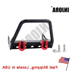 Alloy Front Bumper w/ Winch Mount Shackle for 1/10 RC Crawle