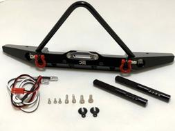 Aluminum Front Bumper Stinger w/LED Shackle for Axial SCX10