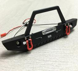 Aluminum Alloy Front Bumper w/LED Shackle for Axial SCX10 &