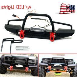 aluminum front bumper w winch mount leds