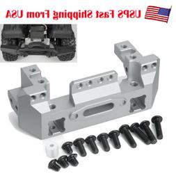 Aluminum Metal Front Bumper w/Servo Mount For 1/10 RC Crawle