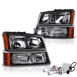 VIPMOTOZ Black Housing Headlight & Front Turn Signal Bumper