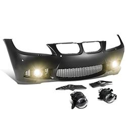 For BMW E90 3-Series  Unpainted M3 Style Front Bumper + Mesh