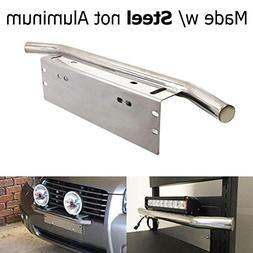 iJDMTOY Bull Bar Style Stainless Steel Front Bumper License