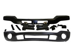 Bundle 03-07 Sierra Front Bumper Black Bar Valance Bracket W