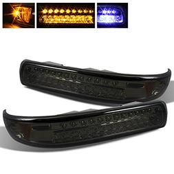 For Chevy Silverado Suburban Tahoe Smoked Lens Amber LED Fro