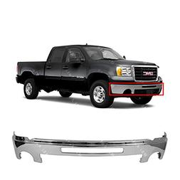 MBI AUTO - Chrome, Steel Front Bumper Face Bar Shell W/Cente