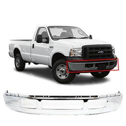 chrome steel front bumper shell for 2005