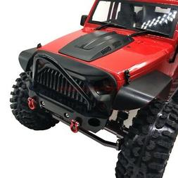 CNC METAL FRONT BUMPER BULL BAR W/ Shackles For AXIAL SCX10