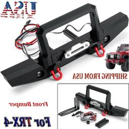 cnc metal front bumper w winch light