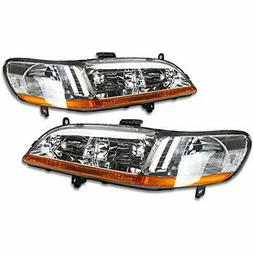 DNA Motoring HL-OH-HA98-CH-AB Headlight Assembly, Driver And