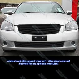 Fits 05-06 Nissan Altima Black Billet Grille Insert Combo #N