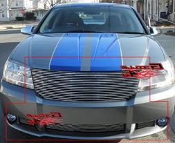 APS Fits 07-10 2010 Dodge Avenger SXT Billet Grille Combo #D