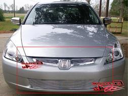 Fits 2003-2004 Honda Accord Sedan Billet Grille Combo #H6795