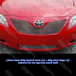 APS Fits 2007-2009 Toyota Camry LE Billet Grille Combo #T878