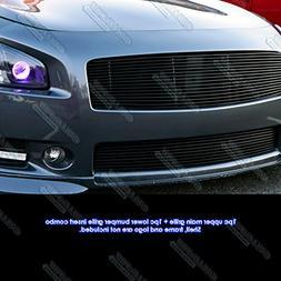 APS Fits 2009-2014 Nissan Maxima Black Billet Grille Grill C