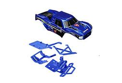 Front Bumper and Mount, Blue: Son-Uva Digger