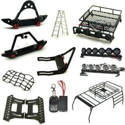 Front Rear Bumper Roof Luggage Rack Net Winch For 1/10 RC Ca