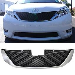 Grille Fits 2011-2017 Toyota Sienna | SE Style Chrome & Blac