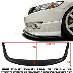 GT-Speed Made Universal Fit CS Style PU Front Bumper Add on Lip Flat Splitter Plate Under Panel