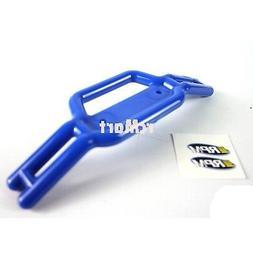 RPM Hardened Plastic Tubular Front Bumper Blue Traxxas Revo