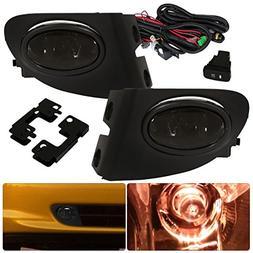 For Honda Civic Si Hatchback Ep3 Smoked Fog Lights Lamp Fron